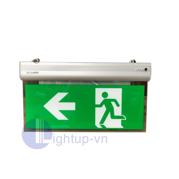 Đèn Exit mặt thủy tinh